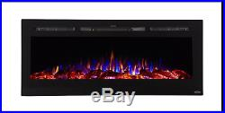 REFURB Touchstone black 50 Sideline wall electric fireplace. FREE SHIPPING