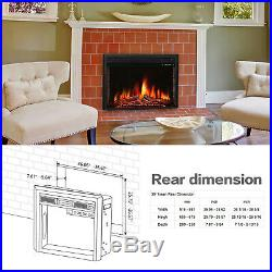 R. W. FLAME 39 inch Recessed Electric Fireplace Insert, Remote Control, 750W-1500W