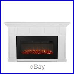 RealFlame Alcott Electric Fireplace X-wide 6 Color Infrared Firebox White