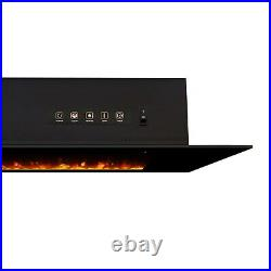 RealFlame Electric Wall Fireplace Corretto 72 Hanging Unit Real Flame Black
