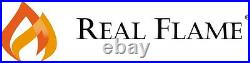 RealFlame Kennedy Electric Fireplace Infrared Grand Corner X-Lg Firebox Walnut