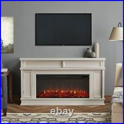 RealFlame Torrey Infrared Fireplace with Electric Extra Long Firebox White