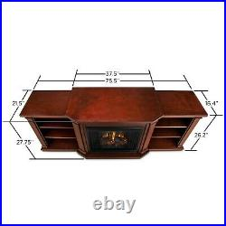 RealFlame Valmont Electric Fireplace Infrared Entertainment Center Dark Mahogany