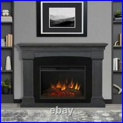 Real Flame 8290E-GRY Deland Grand Electric Fireplace in Gray