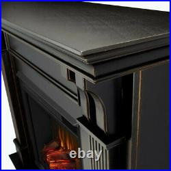 Real Flame Ashley Electric Fireplace in Black Wash