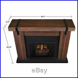 Real Flame Aspen Electric Fireplace in Chestnut Barnwood