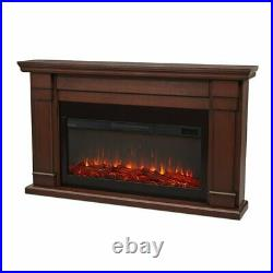 Real Flame Carlisle Electric Fireplace in Chestnut Oak
