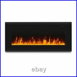 Real Flame Corretto 40 Wall-Hung Electric Fireplace Black 120V/60Hz