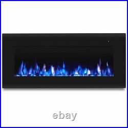 Real Flame Corretto 40 Wall Mounted Electric Fireplace in Black