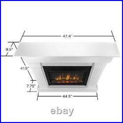 Real Flame Crawford Electric Slim Line Fireplace in Chestnut Oak