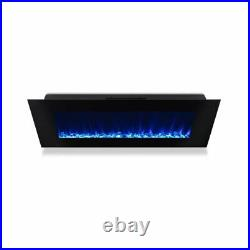 Real Flame DiNatale Wall Mounted Electric Fireplace in Black