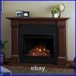 Real Flame Electric Fireplace Callaway Grand Infrared X-Lg Firebox Chestnut Oak