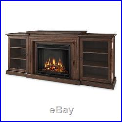 Real Flame Frederick Electric Fireplace Entertainment Center Chestnut Oak NEW