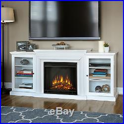 Real Flame Frederick White 72 in. L x 15.5 in. D x 30.1 in. H Electric Entertain