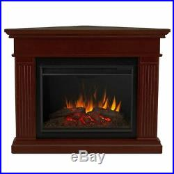 Real Flame Kennedy Grand Corner Electric Fireplace in Dark Walnut