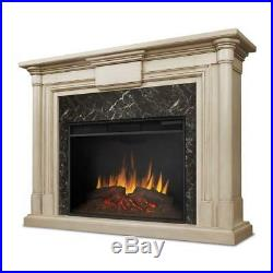 Real Flame Maxwell Grand 58 Ventless Electric Fireplace in Whitewash, 8030E-WW