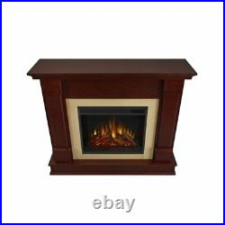 Real Flame Silverton Indoor Electric Fireplace in Dark Mahogany