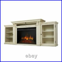 Real Flame Tracey 84 Fireplace TV Stand in Distressed White