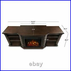 Real Flame Valmont Entertainment Electric Fireplace in Chestnut Oak