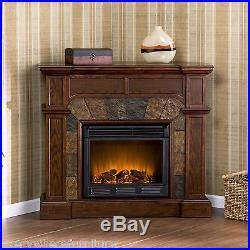 SALE Cartwright ELECTRIC Espresso Fireplace + Remote CORNER FLAT WALL SEI FE9287