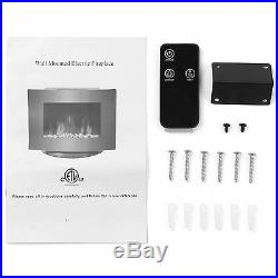 SUNCOO Electric Fireplace Wall Mount & Standing 1500W withRemote Adjustable Heater
