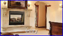 SUPERIOR DRT40ST 40 Direct Vent Gas Fireplace Traditional See Thru 2 sided Unit