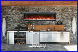SYM-60 BESPOKE Electric Fireplace 60 Clean Face Design Integrity by Amantii