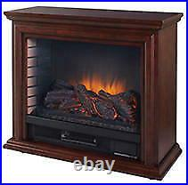 Sheridan Mobile Infrared Fireplace in Cherry
