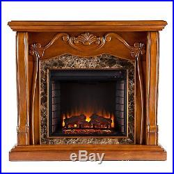 Southern Enterprises Cardona Electric Fireplace Walnut FE9664 New