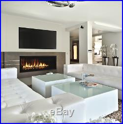Superior DRL6542 Linear Direct Vent Gas Fireplace with Porcelain Interior & Remote