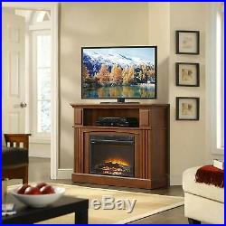 TV Stand with Electric Heating Fireplace Entertainment Center Media Console Table