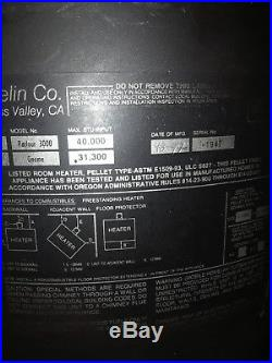 Thelin gnome 31300 btu Pot Belly Pellet Stove working ready fire fireplace