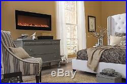 Touchstone 80004 Sideline In-Wall Recessed Electric Fireplace, 50 Inch Wide, 150