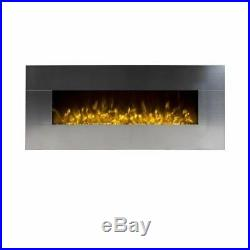 Touchstone 80026 Onyx Stainless Wall Mounted Electric Fireplace 50