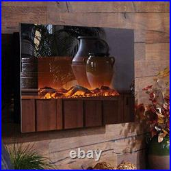 Touchstone Mirror Onyx 50 Wall Mounted Electric Fireplace