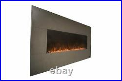 Touchstone Onyx 50 Stainless Steel Wall Mounted Electric Fireplace