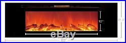 Touchstone black 60 Sideline60 wall-mount electric fireplace. Recess or hang