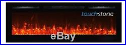 Touchstone black 72 Sideline72 wall-mount electric fireplace. Recess or hang
