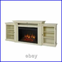Tracey Grand Ent. Unit with Electric Fireplace Distressed White