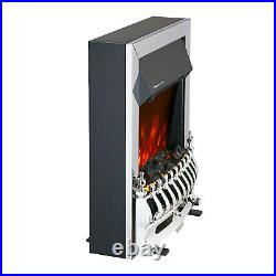 Truflame Led Silver Electric Fire Inset Freestanding With Coals Traditional