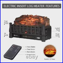 VIVOHOME 110V Electric Remote Insert Log Fireplace Space Heater 3D Flame Stove