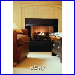 Vent-Free Propane Gas Fireplace Log Decorative Thermostatic Control Room Heating