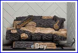 Vent Free Propane Gas Fireplace Oakwood Fire Logs Set Thermostat Emberglow Log
