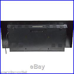 Wall Mount Electric Fireplace 50 Adjustable Heater Black Remote Cont Extra Wide