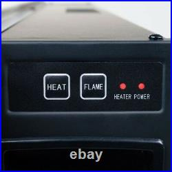 Wall Mounted 42 in. Electric Fireplace Heater Black with Remote LED Fire and Ice