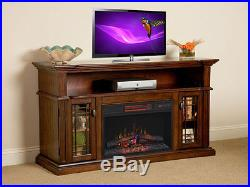 Wallace Infrared Electric Fireplace Entertainment Center in Empire Cherry