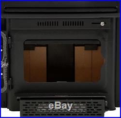 Wood Burning Fireplace Insert Chimney Heater Stove House Iron Door Blower Fan