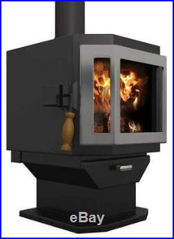 Wood Stove in Stainless Steel Door with Room Blower Fan ID 4101701