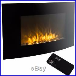 XL Large 35x22 1500W Adjustable Heater Electric Wall Mount Fireplace Elegant