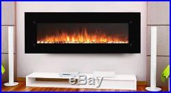 XXL 72 Electric Fireplace Sideline72 Inset Heat Black Touchstone NEW